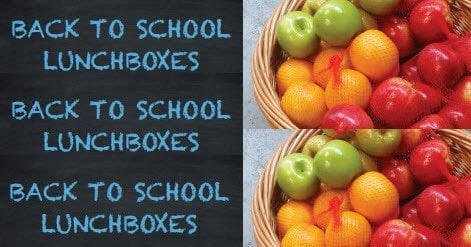 Healthy 'back to school' lunchbox solutions!