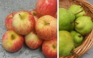 Nannup pears & Pemberton Royal Gala Apples